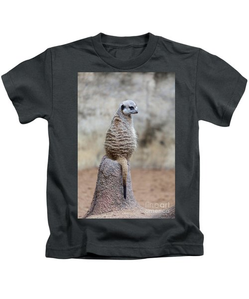 Meerkat Sitting And Looking Right Kids T-Shirt