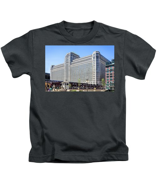 Merchandise Mart Overlooking The L Kids T-Shirt