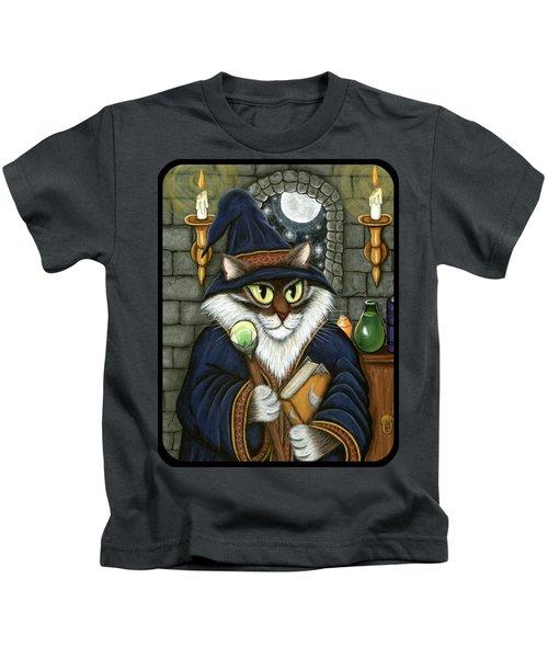 Merlin The Magician Cat Kids T-Shirt