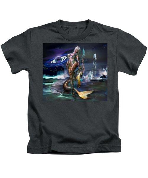 Mermaids Moon Light Kids T-Shirt
