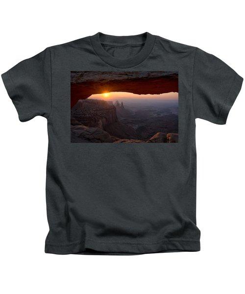 Mesa Arch Sunrise Kids T-Shirt