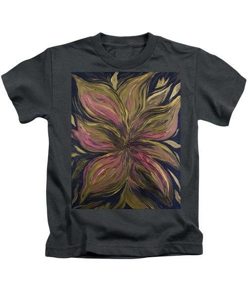 Metallic Flower Kids T-Shirt
