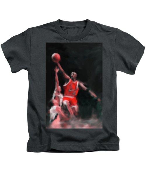Michael Jordan 548 3 Kids T-Shirt by Mawra Tahreem