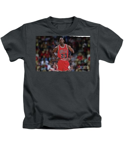Michael Jordan, Number 23, Chicago Bulls Kids T-Shirt