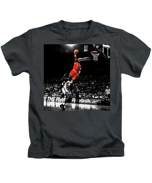 Michael Jordan Suspended In Air Kids T-Shirt