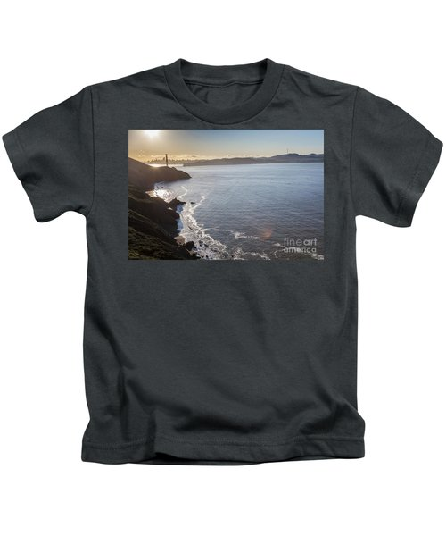 Mid Morning View Of The Downtown San Franscisco Over The Golden  Kids T-Shirt