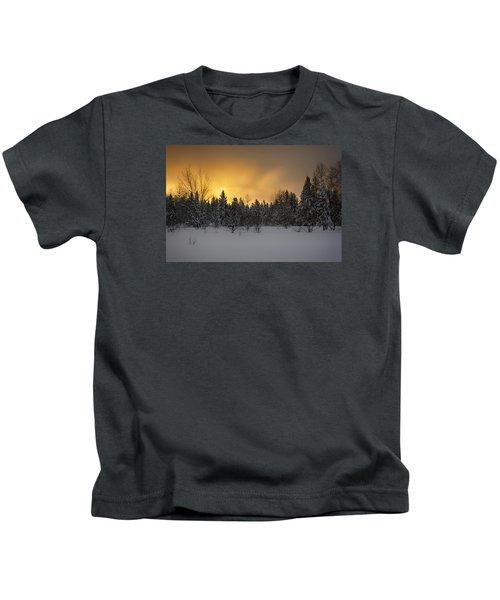 Mid-winter Glow Kids T-Shirt