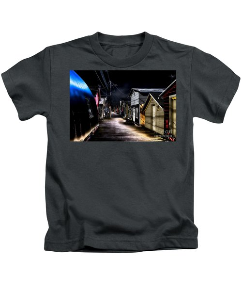 Midnight At The Boathouse Kids T-Shirt