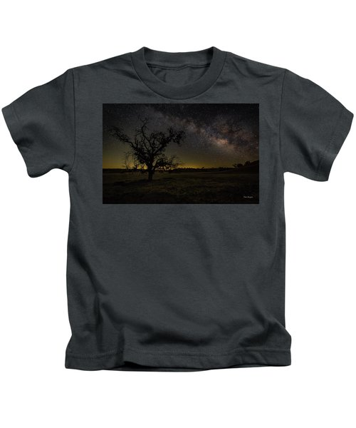 Miily Way In A Late Spring Sky Kids T-Shirt
