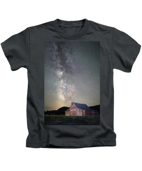 Milky Way And Barn Kids T-Shirt