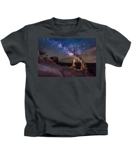 Milky Way And Delicate Arch Kids T-Shirt