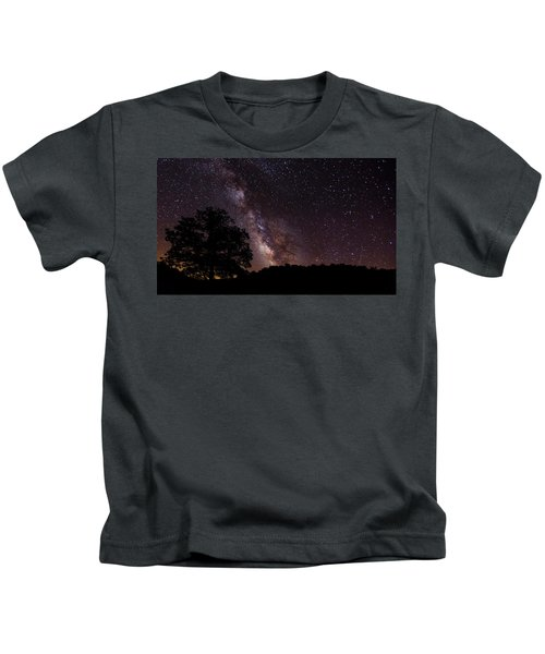 Milky Way And The Tree Kids T-Shirt