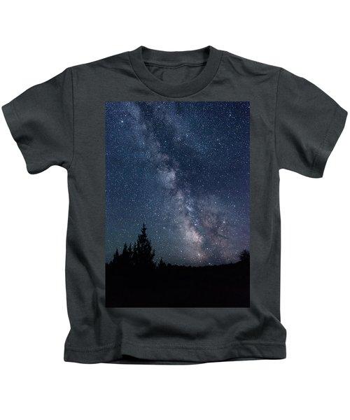 Milky Way At Eastern Oregon Wilderness Kids T-Shirt