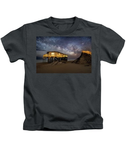 Milky Way Beach House Kids T-Shirt