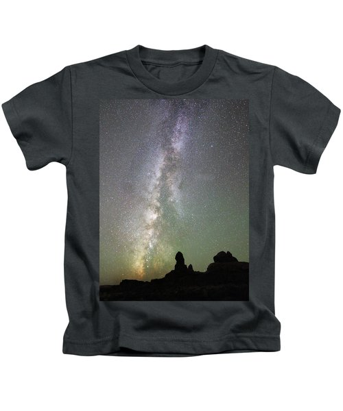 Milky Way Over Arches Np Four Kids T-Shirt