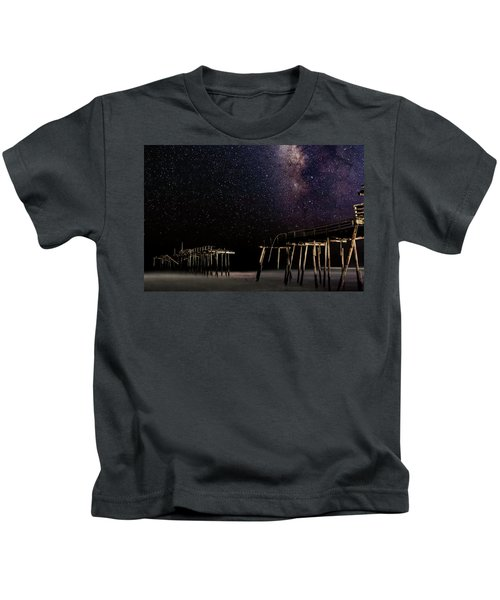Milky Way Over Frisco Kids T-Shirt