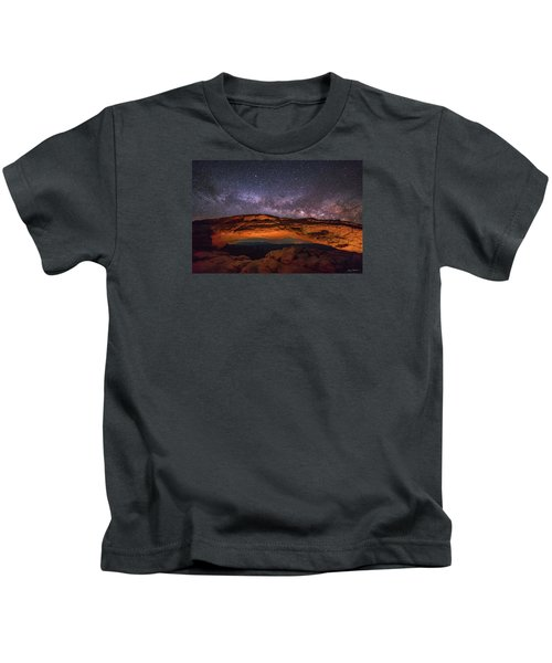 Milky Way Over Mesa Arch Kids T-Shirt