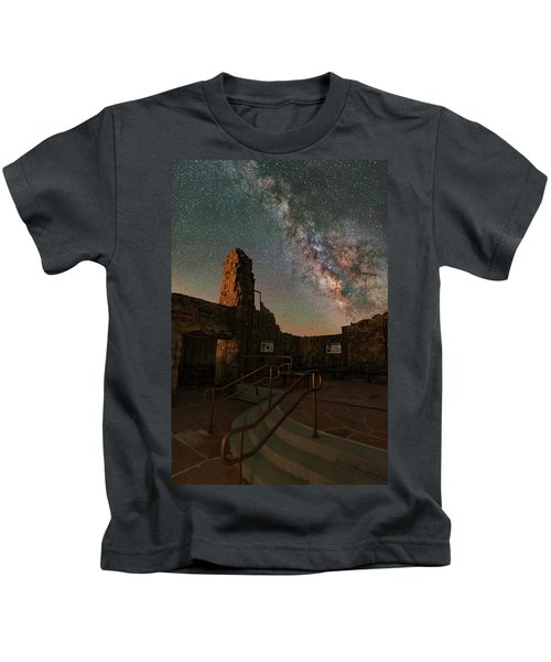 Milky Way Steps At The Crest House Ruins Kids T-Shirt