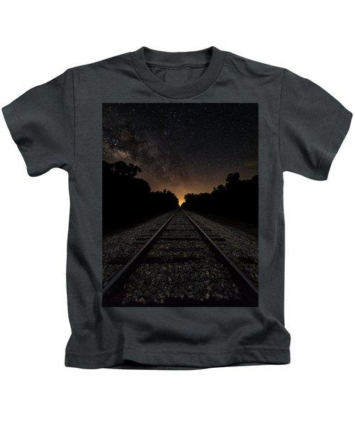Milky Way Tracks Kids T-Shirt