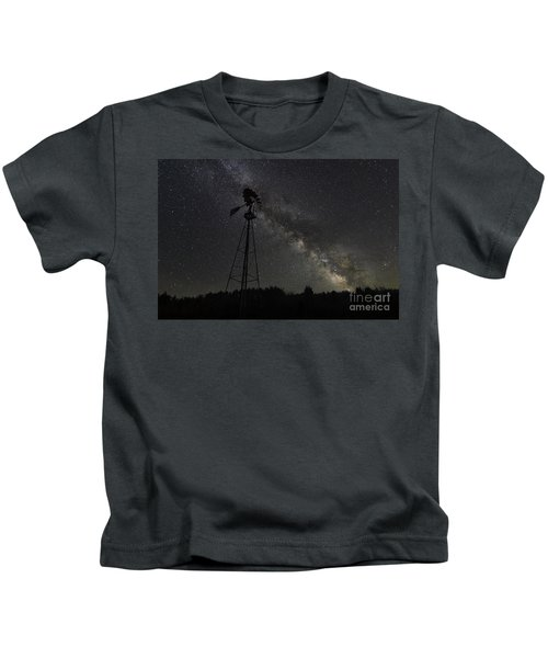 Milky Way Windmill  Kids T-Shirt