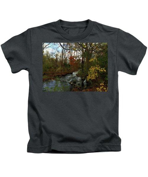 Mill Creek, Sandwich Massachusetts Kids T-Shirt