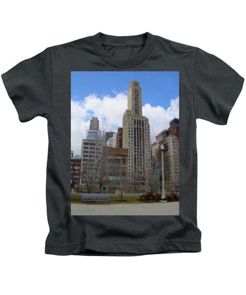 Millenium Park And Bench 2 Kids T-Shirt