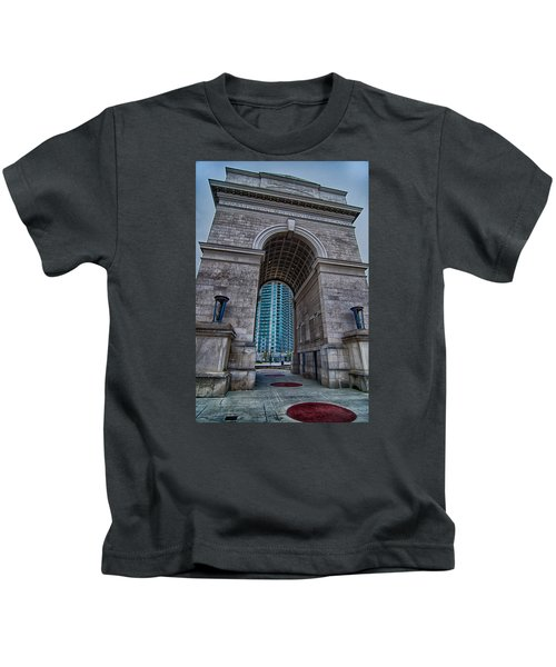 Millennium Gate Triumphal Arch At Atlantic Station In Midtown At Kids T-Shirt