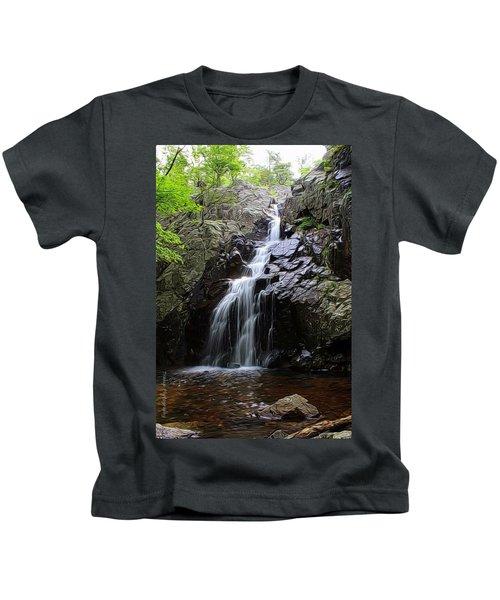 Mina Suak Falls, Mo. Kids T-Shirt