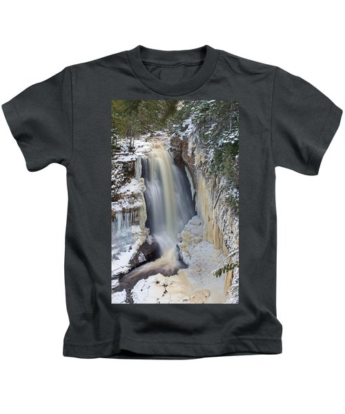 Miners Falls In The Snow Kids T-Shirt