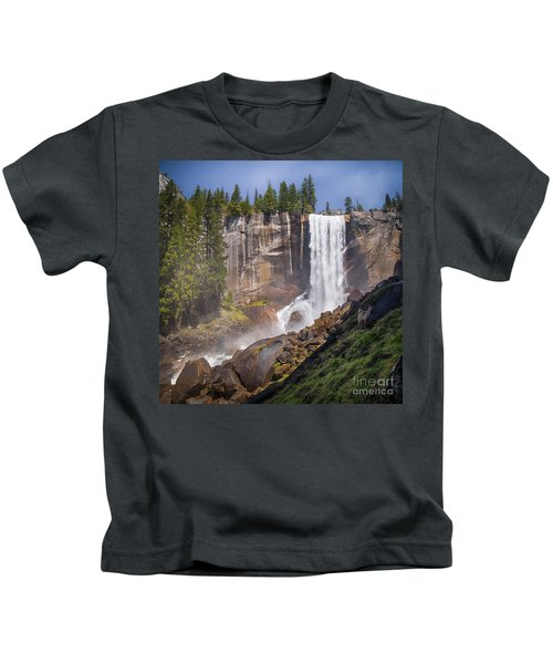 Mist Trail And Vernal Falls Kids T-Shirt