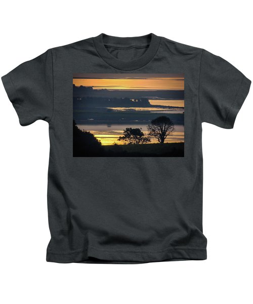 Kids T-Shirt featuring the photograph Misty Irish Morning On The Shannon by James Truett