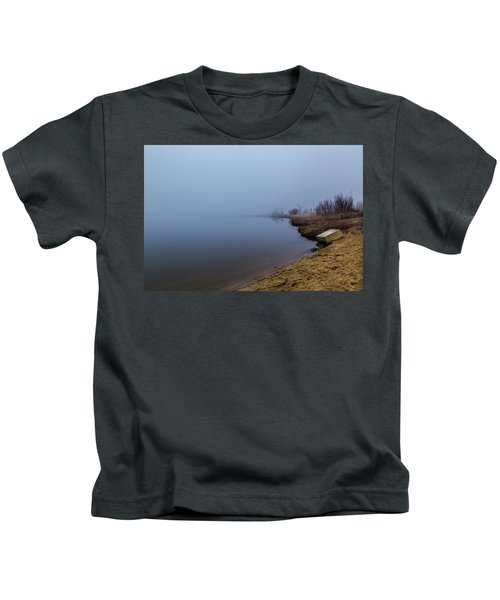 Misty Morning By The Lake Kids T-Shirt