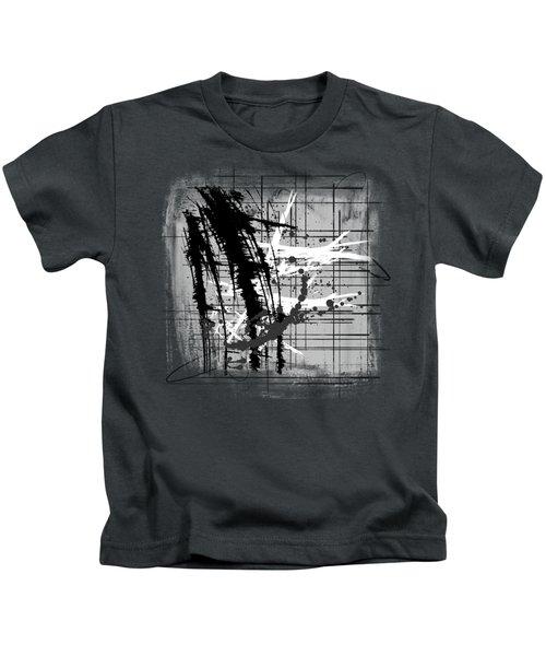 Modern Black And White 2 Kids T-Shirt