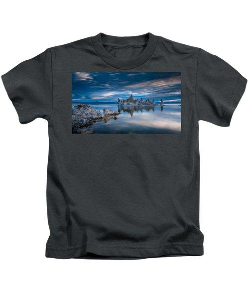Mono Lake Tufas Kids T-Shirt by Ralph Vazquez