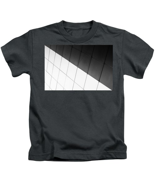 Monochrome Building Abstract 3 Kids T-Shirt