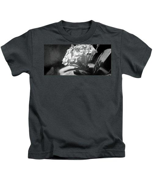 Monochrome Flora Kids T-Shirt