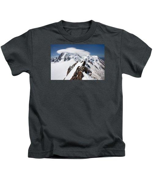 Mont Blanc And Ufo Kids T-Shirt