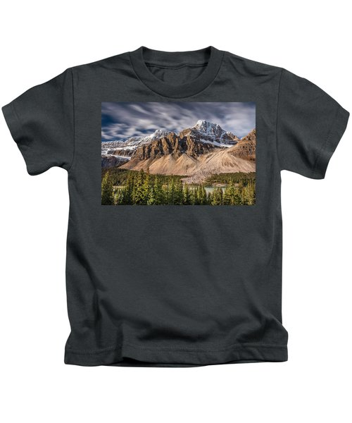 Mont Crowfoot On The Icefield Parkway Kids T-Shirt