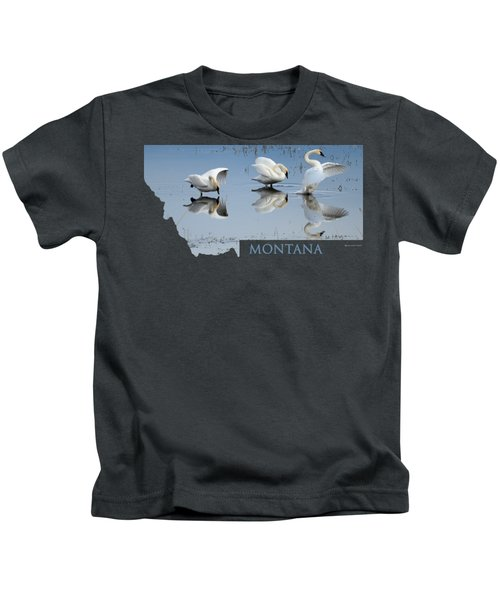 Montana- Swan Ballet Kids T-Shirt