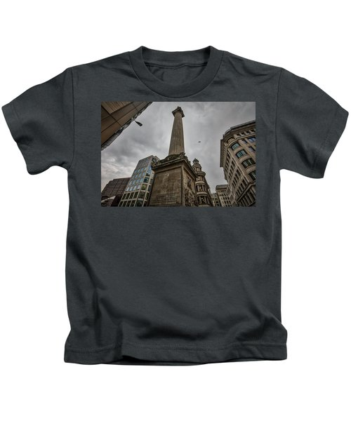Monument To The Great Fire Of London Kids T-Shirt