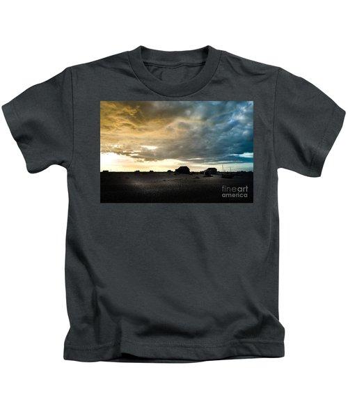 Moody Sky, Dungeness Beach  Kids T-Shirt