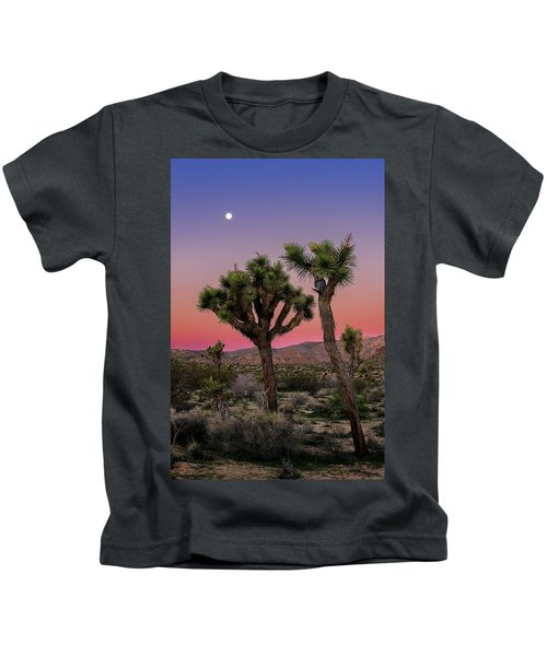 Moon Over Joshua Tree Kids T-Shirt