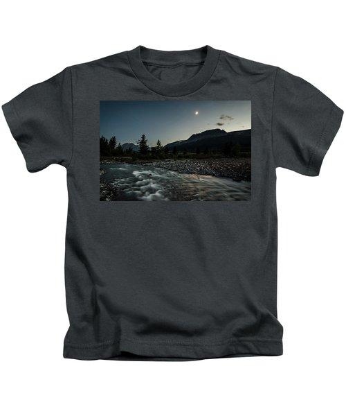 Moon Over Montana Kids T-Shirt
