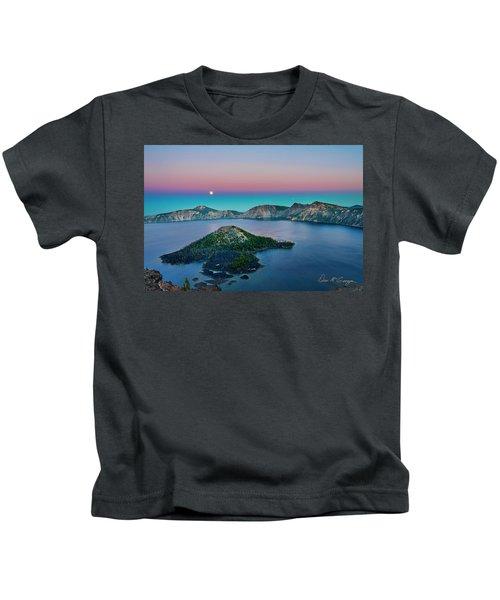 Moon Over Wizard Island Kids T-Shirt