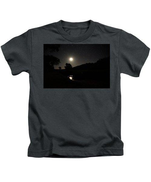 Moon Set Over Palm Valley 2 Kids T-Shirt