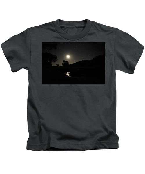 Moon Set Over Palm Valley 2 Kids T-Shirt