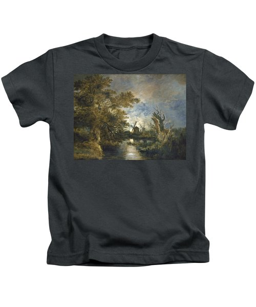 Moonlight On The Yare Kids T-Shirt