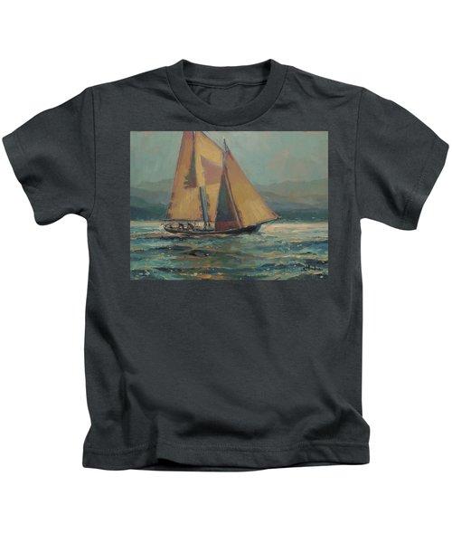 Moonlight Sail Kids T-Shirt
