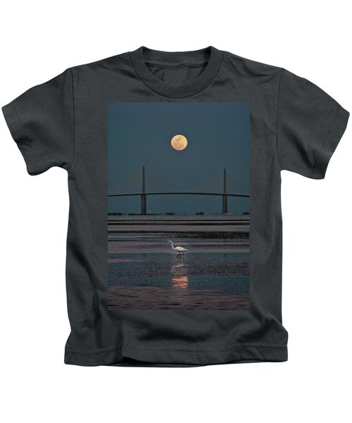 Moonlight Stroll Kids T-Shirt