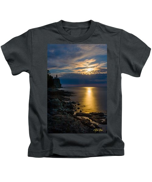 Moonrise From The Cloudbank Kids T-Shirt